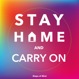 stay home and carry on, fight again virus covid-19